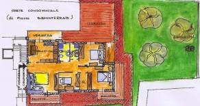 Prato Coiano. Appartamento al piano terra con giardino. Rif. PR178